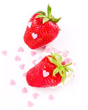 Ripe strawberry on clean white background Stock Photo