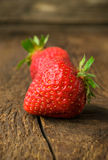 Ripe strawberry close-up Stock Photo