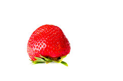 Ripe strawberry isolated on white background. Close-up Royalty Free Stock Photo
