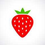 Ripe strawberry vector icon Stock Photography