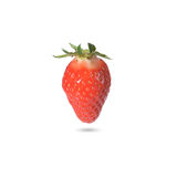 Ripe strawberry on white background Stock Photos