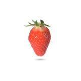Ripe strawberry on white background Stock Photos