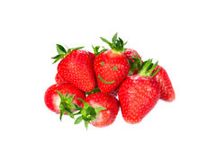 Ripe succulent red strawberries Stock Photography