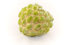 Ripe Sugar Apple on White Background Royalty Free Stock Images