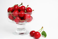 The Ripe sweet cherries. Stock Photos