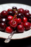 Ripe sweet cherries Stock Images