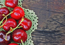 Ripe sweet cherries Royalty Free Stock Photo