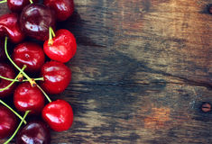 Ripe sweet cherries Stock Photography