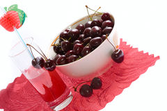Ripe sweet cherry Stock Photo