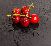 Ripe sweet cherry Stock Photos