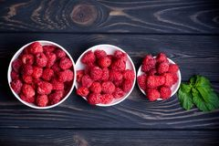 Ripe and sweet raspberries Royalty Free Stock Photos