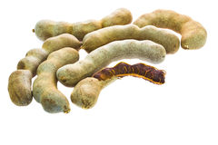 Isolated ripe tamarind Royalty Free Stock Image