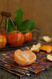 Ripe tangerine fruit pieces Royalty Free Stock Photos