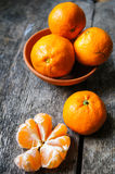 Ripe tangerine fruits Royalty Free Stock Photo