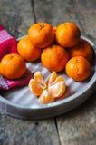 Ripe tangerine fruits Stock Images