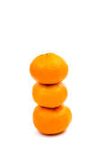 Ripe tangerine isolated Royalty Free Stock Images