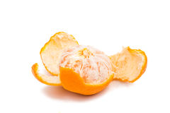 Ripe tangerine isolated Stock Photography