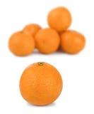 Ripe tangerine or mandarin fruit Stock Images