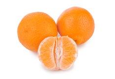 Ripe tangerine or mandarin fruit Stock Photos