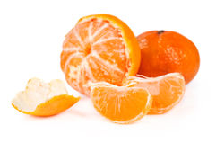 Ripe tangerine with slices closeup Stock Photo