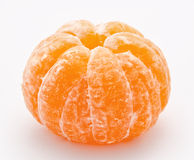 Ripe tangerine  on a white Stock Image
