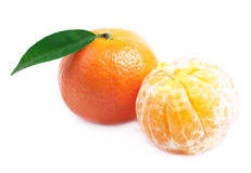 Ripe tangerine . Stock Photo