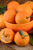 Ripe Tangerines Closeup Royalty Free Stock Photography