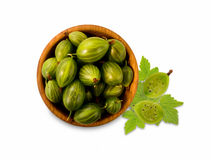 Ripe and tasty gooseberry isolated on white background. Stock Photo
