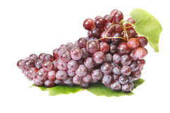 Ripe,tasty grapes on a white. Royalty Free Stock Photo