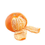 Ripe tasty mandarine with peel Royalty Free Stock Photography