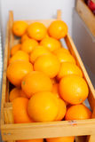 Ripe tasty orange box isolated side view Stock Image