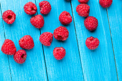 Ripe tasty raspberries stock images