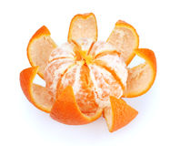 Ripe tasty tangerines with peel Stock Image