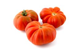 Ripe Tiger Tomatoes Royalty Free Stock Images
