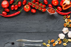 Ripe tomato Healthy food background and Copy space Stock Image