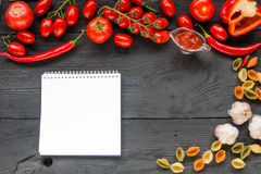 Ripe tomato Healthy food background and Copy space Stock Photo
