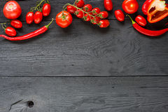Ripe tomato Healthy food background and Copy space Royalty Free Stock Photo