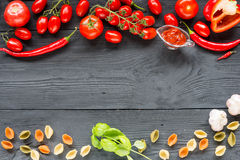 Ripe tomato Healthy food background and Copy space Royalty Free Stock Photography