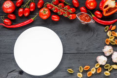 Ripe tomato Healthy food background and Copy space Royalty Free Stock Photos