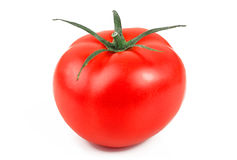 Ripe tomato isolated on white background Stock Photography