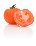 Ripe tomato with reflection Stock Photo