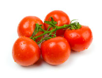 Ripe tomatoes. On a white background Stock Images