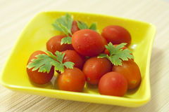 Ripe tomatoes stock photography