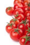 Ripe tomatoes background isolated Stock Photo