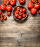 Ripe tomatoes in a bowl royalty free stock photo