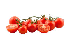 Ripe tomatoes on vine Royalty Free Stock Photography