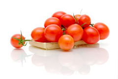 Ripe tomatoes on a white background Stock Images
