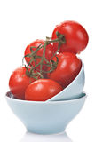 Ripe Tomatoes With Water Drops Royalty Free Stock Image