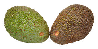Ripe And Unripe Avocado Pears Royalty Free Stock Photography