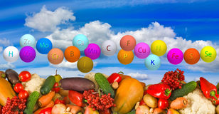 Ripe vegetables against the sky Royalty Free Stock Photography